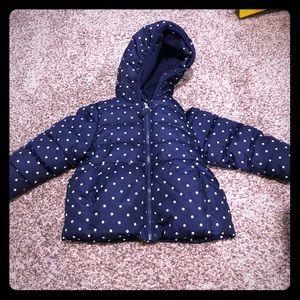 Healthtex Polka Dot Winter Puffer Coat
